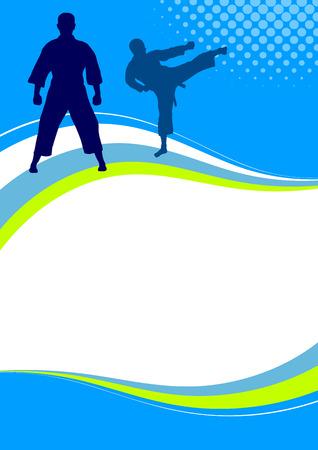 karate kick: Illustration - Karate sport poster