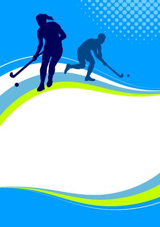 field hockey: Illustration - Hockey sport poster Illustration