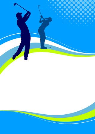 Illustration - affiche sportive Golf Vecteurs