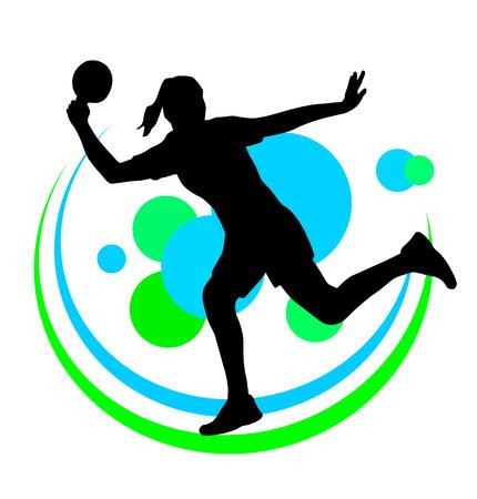 tischtennis: Vektor-Illustration eines Tischtennisspieler