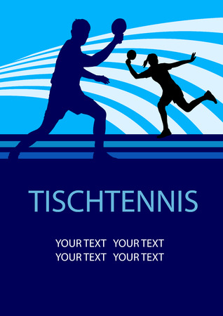 ping pong: tenis de mesa fondo del cartel deporte Vectores