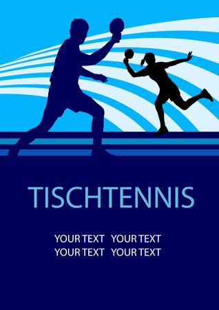 Tennis de table affiche de sportif Banque d'images - 25629943