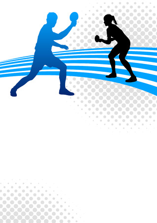 卓球のスポーツのポスターの背景  イラスト・ベクター素材