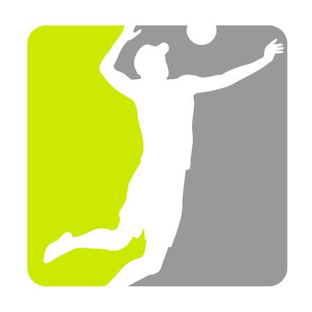 volleyball team: Illustration - Beachvolleyball