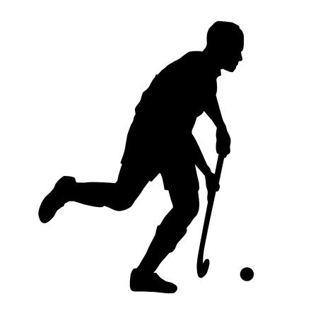 grass silhouette: Illustration - Hockey sport