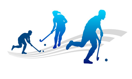 summer field: Illustration - Hockey sport