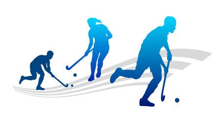 field hockey: Ilustraci�n - el deporte del hockey Vectores