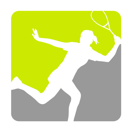 Illustration - Squash sport   Vector