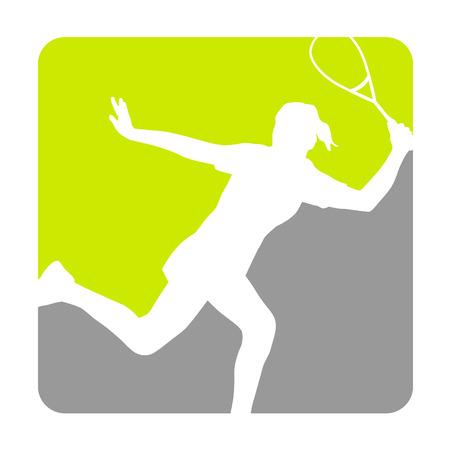 Illustration - Squash sport Stock Vector - 25651058