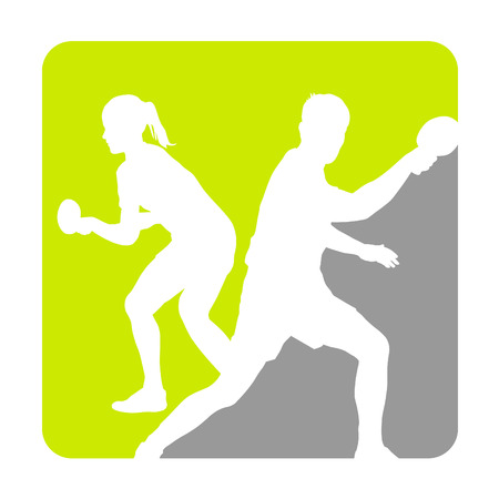 tennis de table: Illustration - tennis de table le sport