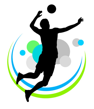 Illustration of volleyball sport vector Иллюстрация