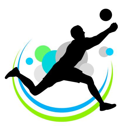 volleyball team: Illustration of volleyball sport