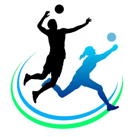 pelota de voleibol: Ilustración del deporte de voleibol