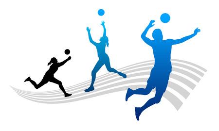 Ilustración del deporte de voleibol Ilustración de vector
