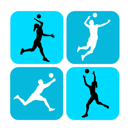 volley ball: Illustration of volleyball sport