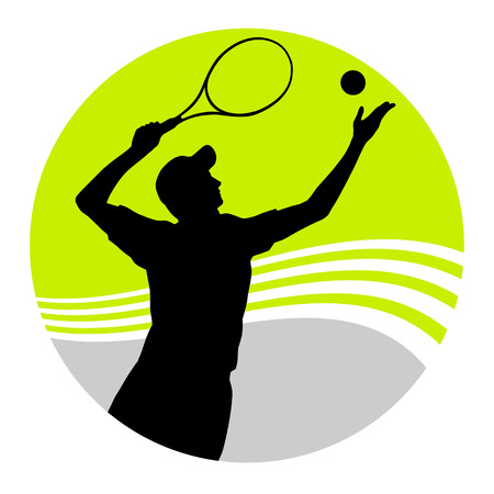 vector illustration of a tennis player Vector