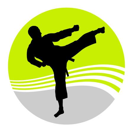 judo: Illustration - karate fighter