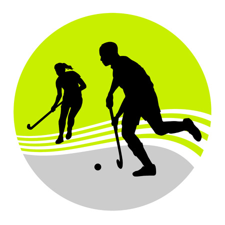 hockey sobre cesped: Ilustraci�n - jugador de hockey de campo