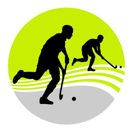 Illustration - field hockey player Vector
