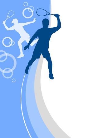 squash sport poster Vector