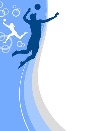 beachvolleyball sport poster Vector