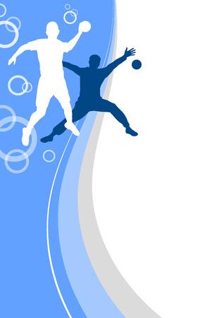 balonmano: el deporte de balonmano fondo del cartel Vectores