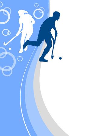 hockey sport poster achtergrond Vector Illustratie