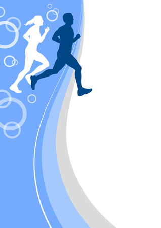 running sport poster background Vector