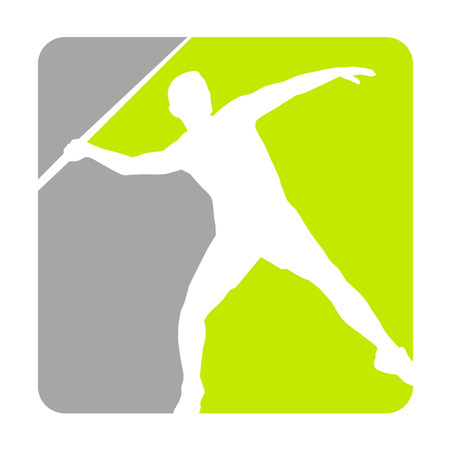 thrower: javelin thrower in action Illustration