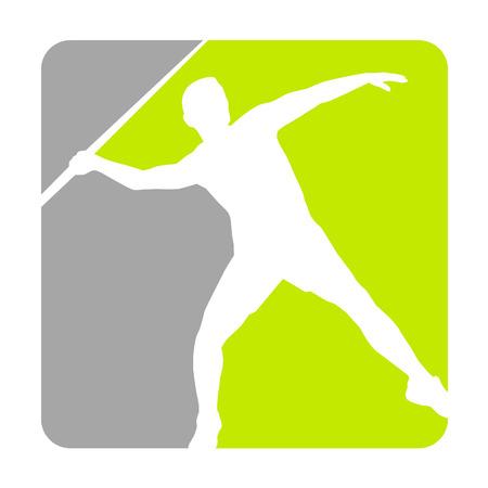lanzamiento de jabalina: lanzador de jabalina en la acción
