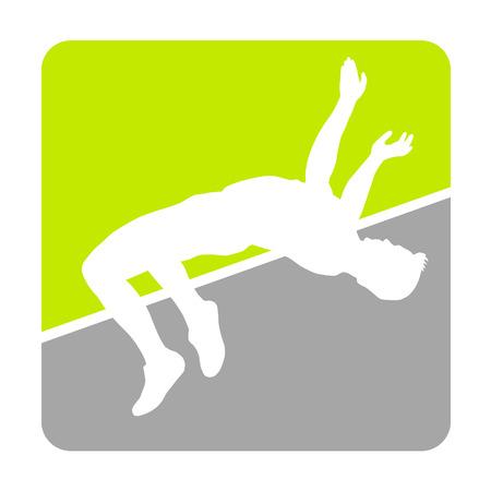 crossbar: Athlete jumping high over crossbar