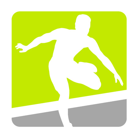 Hurdler fly over hurdles Vector