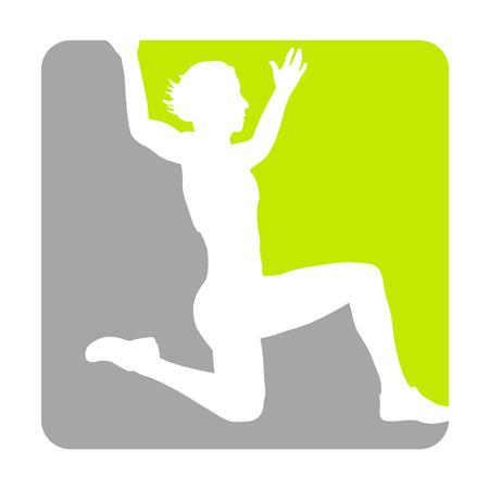salto largo: Atleta de salto Vectores