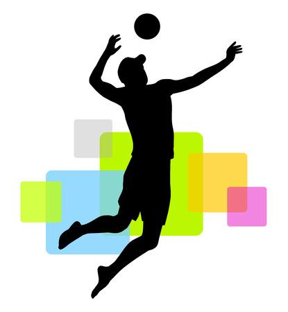 beach volleyball player Ilustracja