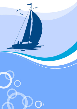 sailer: sailing poster background Illustration