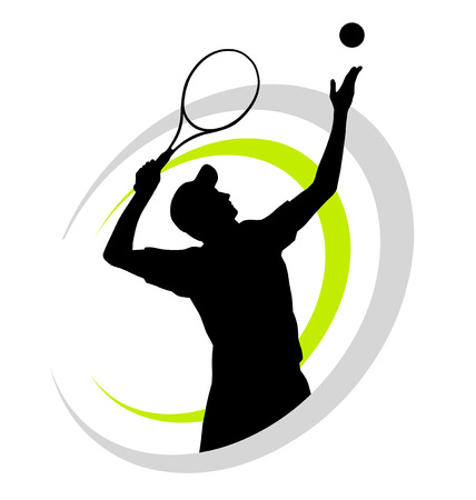 Illustration vectorielle de joueur de tennis Banque d'images - 27904629
