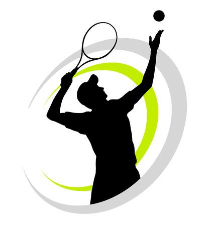 actores: ilustraci�n vectorial de jugador de tenis