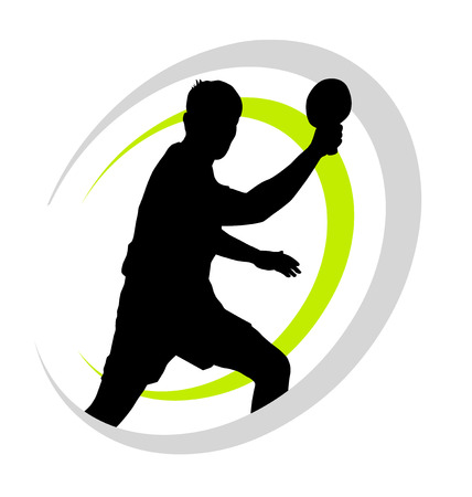 ping pong: tenis de mesa deporte logo Vectores