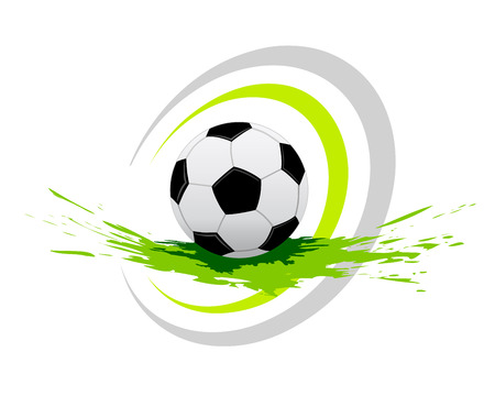 soccer ball with elements Illustration
