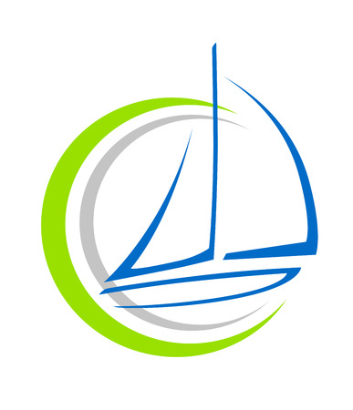 Sailing ship vector illustration