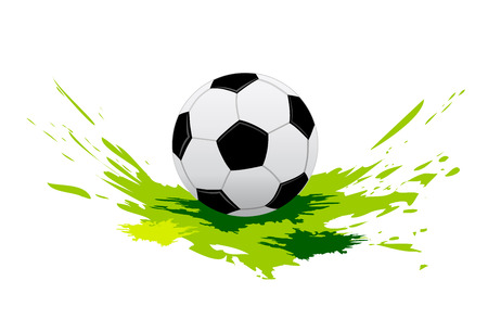 european championship: soccer ball with elements Illustration