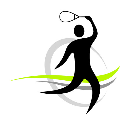 team sports: squash sport Illustration