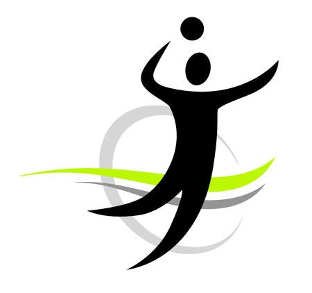 volley: volleyball sport vector
