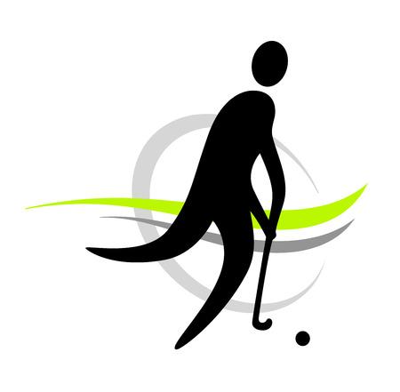 hockey sobre cesped: campo jugador de hockey Vectores