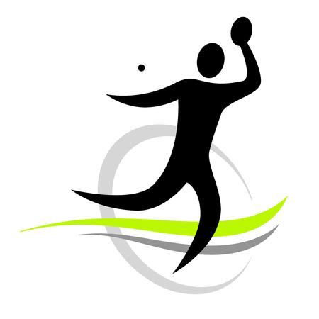 tischtennis: Tischtennissport Illustration