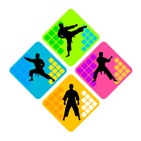 karate sport  Ilustração