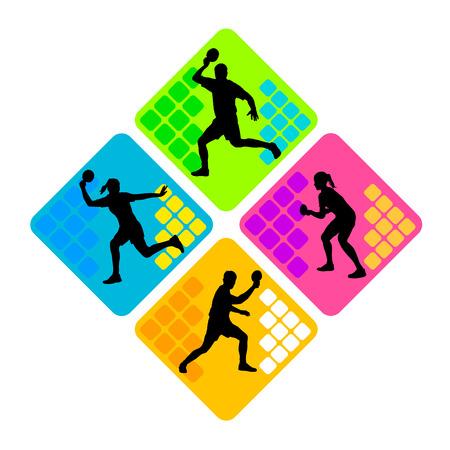 ping pong: el deporte de tenis de mesa Vectores