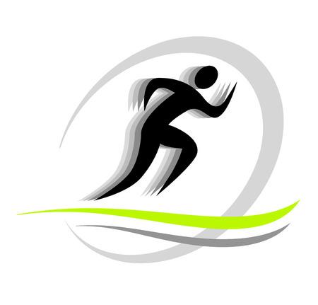 piktogramm: running people Illustration