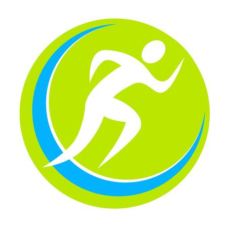 mujer deportista: correr deporte ilustración