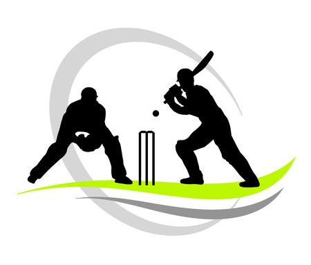 cricket player illustration  Vector